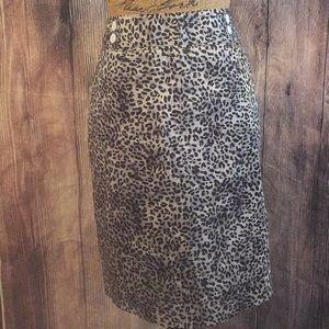 Nwot Cato Animal Print Pencil Skirt Size 12